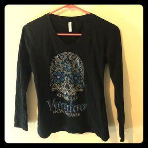 Classic Sweaters - Long sleeved black cotton shirt