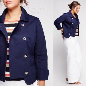 Lane Bryant Jackets & Blazers - Navy Nautical Double Breasted Jacket