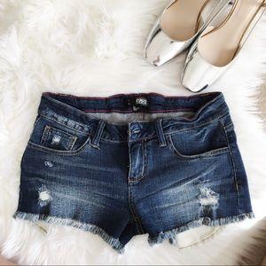 Pants - Distressed premium denim shorts. Distressed
