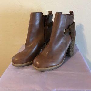 A+ Ellen Shoes - A+ faux leather booties