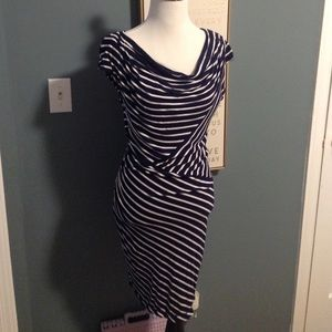 Max Studio Striped Shift Dress