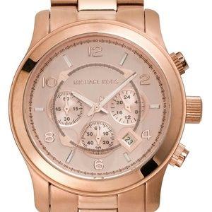 MK Rose Gold Large Runway Watch