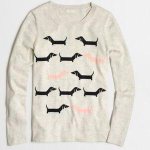 J. Crew Sweaters - J. Crew Mini Dachshund Dog Sweater