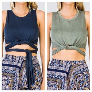 clmayfae Tops - 🆕JENNA Wrap Up Crop Top