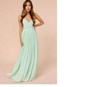 Lulu Dresses & Skirts - Snowy Meadow Crocheted Maxi Dress