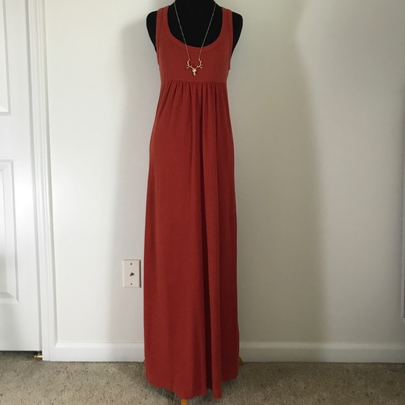 James Perse Dresses & Skirts - Standard James Perse Rusty Red Orange Maxi Dress