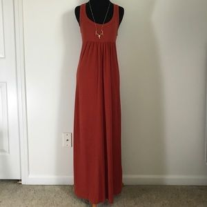Standard James Perse Rusty Red Orange Maxi Dress