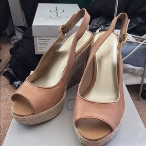 Jessica Simpson Open toe Wedges size 9.5