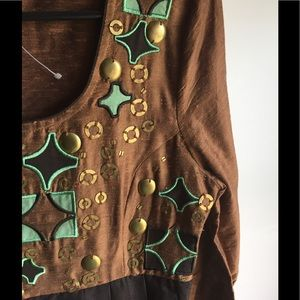 H&M Studded Shantung Midi Dress