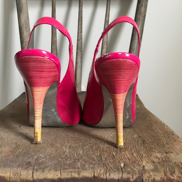 Jessica Simpson Shoes - Jessica Simpson hot pink open toed dressy pumps