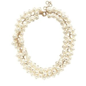 J.Crew Pearl Cluster Necklace
