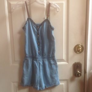Gucci girls denim romper Sz 12