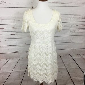 Gap Ivory Lace and Crochet Dress