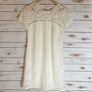 Just Taylor Dresses & Skirts - White Eyelet Lace Summer Dress New!