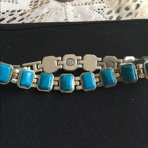 Jewelry - Turquoise stainless steel magnetic bracelet - new