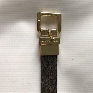 Michael Kors Accessories - Michael Kors brown leather signature belt size S