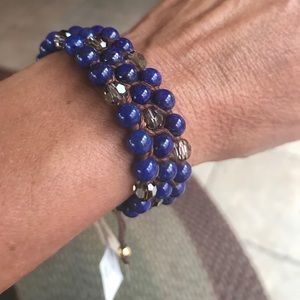 Tommy Bahama Jewelry - Tommy Bahama lapis bead bracelet NWT