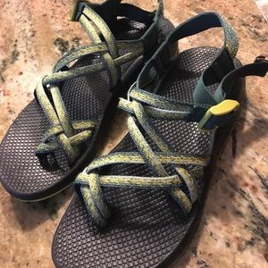 Chacos Shoes - Chaco' green and yellow sandals