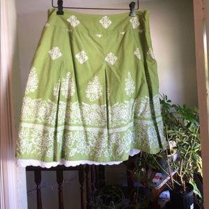 Talbots skirt w/peekaboo slip Sz 14 Petite
