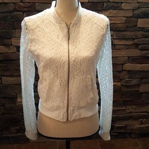 Ashley By 26 International Jackets & Blazers - White Lace Zip Up Jacket M