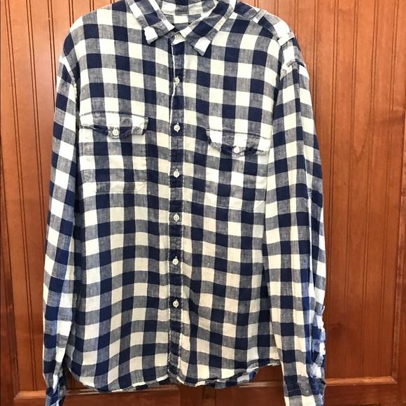 J crew j crew irish linen shirt w gingham print from for Irish linen dress shirts
