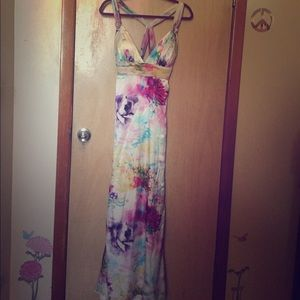 Betsy & Adam Dresses & Skirts - Stunning floral multi watercolor evening dress!