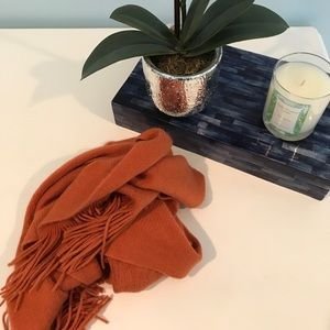 Accessories - 100% Cashmere Orange Scarf