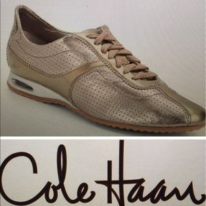 Cole Haan Shoes - NWOT COLE HAAN BRIA PERFORATED METALLIC SNEAKERS