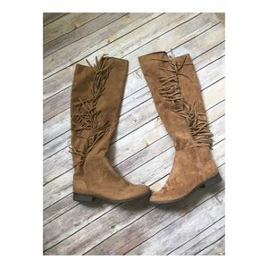 Shoes - Faux suede  tassel Boot