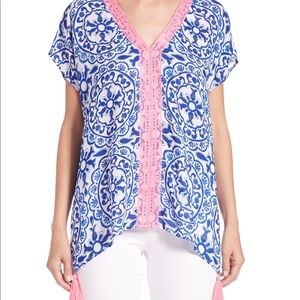 Lilly Pulitzer Sydney Caftan Top with Tassels