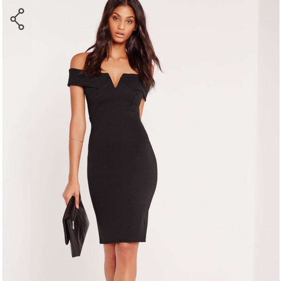 78e8fcad977b Missguided Dresses | Vfront Bardot Midi Dress | Poshmark