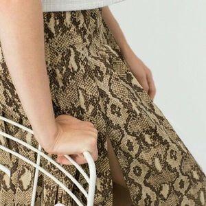 Zara Python Midi Skirt