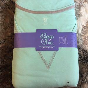 Other - Sleep Chic Pajama Set NWT Teal & Gray