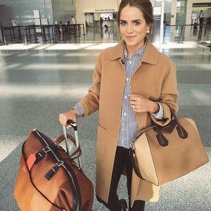 Camel Leather Coach Luggage