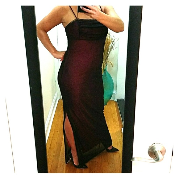 Dresses & Skirts - Beautiful! maroon dress sz 6 excellent condition!!