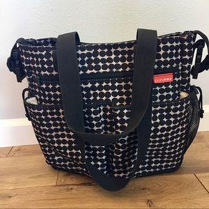 Skip Hop Handbags - SKIP HOP Black & White Polka-Dot Diaper Bag