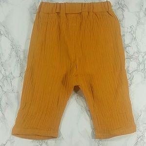 Other - Mustard Crepe harem shorts. Kids