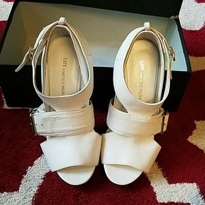 United nude s - 38 white stiletto heels never worn