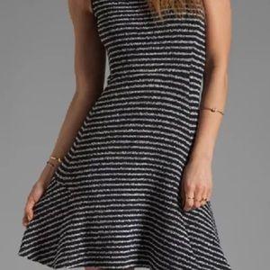 Theory Dresses - Theory Nikay Purposeful Stripe Fit Flare Dress