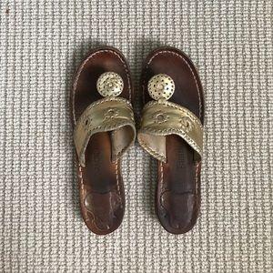 Jack Rogers Shoes - Gold Jack Rogers- 8m