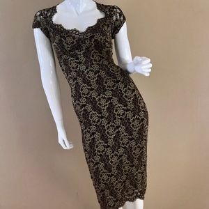 Ann Ferriday lace dress with bolero jacket
