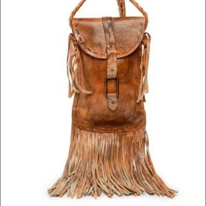 Bed Stü Crossbody with Fringe in Tan