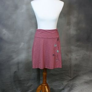 Horny Toad Dresses & Skirts - Horny Toad pink w/ floral organic cotton skirt. S.