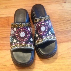 Ipanema Shoes - Ipanema sz 6 beads and sequins wedge sandals