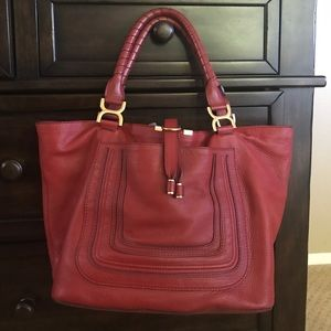 Chloe Handbags - Authentic Chloe ruby red Marcie tote w tags duster