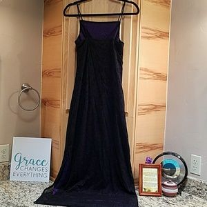 Byer Too Dresses & Skirts - Byer Too, black w purple glitter dress, medium