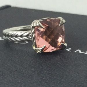 David Yurman Jewelry - David Yurman Chatelaine Morganite Diamond Ring-6