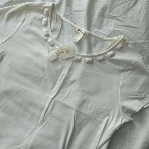 NWT forever 21 white beaded crop top