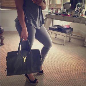 Yves Saint Laurent Handbags - YSL CABAS CHYC GRAY BAG TOTE
