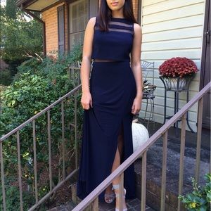 Nightway Dresses & Skirts - Navy Blue Gown